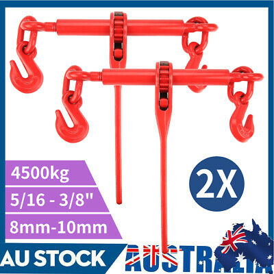 AU80.36 • Buy (2 Pack) Ratchet Load Binder 8mm Dog Chain Load Binder Tie Down 8-10mm Chain New
