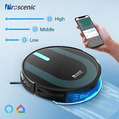 View Details 3000Pa Alexa Robotic Vacuum Cleaner Carpet Floor 3in1 Dry Wet Mopping Auto Robot • 178.88£