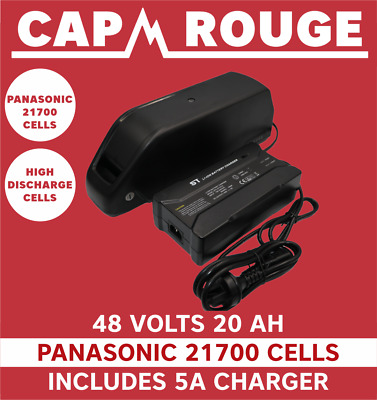 AU715 • Buy 48V Electric Downtube Bike Battery 20AH 40A 960Wh Charger, Panasonic 21700 Cells