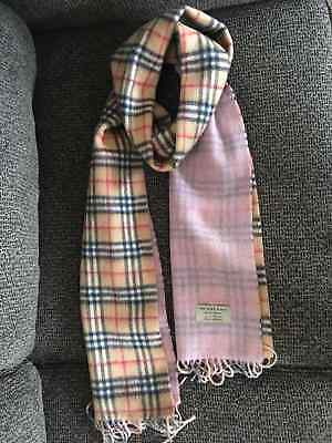 $170 • Buy Burberry Double-sided Scarf Plaid/pink