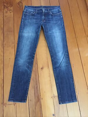"""AU7.50 • Buy 7 For All Mankind """"Roxanne"""" Low Rise Straight Jeans Size 28 -  Distressed"""