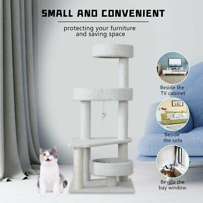 AU52.90 • Buy 101cm Pet Cat Tree Scratching Post Scratcher Tower Trees Condo House Furniture