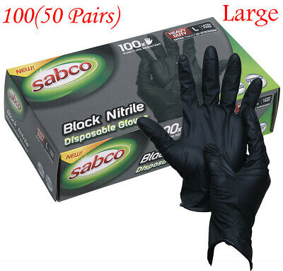 AU29.95 • Buy Industrial Black Disposable Large Nitrile Gloves Thick Rubber Medical Protection