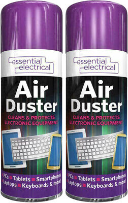 £8.49 • Buy 2x Compressed Aerosol Air Duster Cleaner Spray Can Keyboard Laptop Mouse 200ML