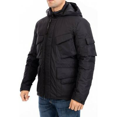 CP Company Hooded Google Down Padded Jacket (Black) • 299.99£