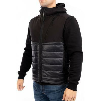 CP Company Shell Hooded Goggle Quilted Gillet (Black) • 199.99£