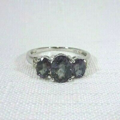 AU80.99 • Buy 2.97ct Colour Change Alexandrite Doublet, White Topaz Solid Sterling Silver Ring
