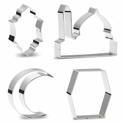 Eid Cookie Cutters - Metal Shapes Islamic Mosque Baking • 2.99£
