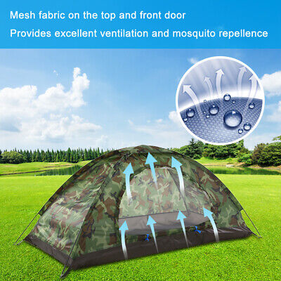 AU27.25 • Buy Camping Tent For 1 Person Single Layer Outdoor Portable Travel Beach Tent F4S5