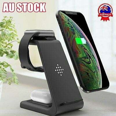 AU33.95 • Buy 3in1 Fast Wireless Charger Dock For Charging Samsung Galaxy Apple IPhone IWatch!