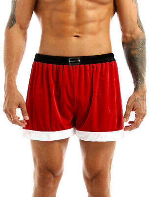 $7.95 • Buy US Red Mens Comfortable Flannel Christmas Santa Sexy Boxer Shorts Underwear M-XL