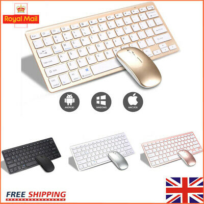 Wireless Bluetooth Keyboard & Mute Mouse Set For IMac/Mobile Phone HOT • 26.77£