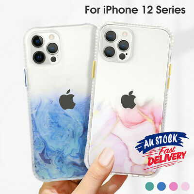 AU7.99 • Buy Marble Shockproof Glitter Cover Clear For IPhone 12 Pro Max Mini 11 Case CAS#
