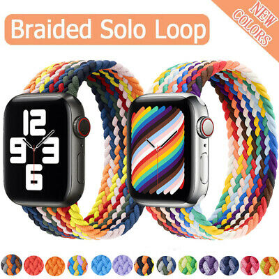 $ CDN5.94 • Buy Nylon Braided Solo Loop Strap Band For Apple Watch Series 6 SE 5 4 3 42/40/44 MM