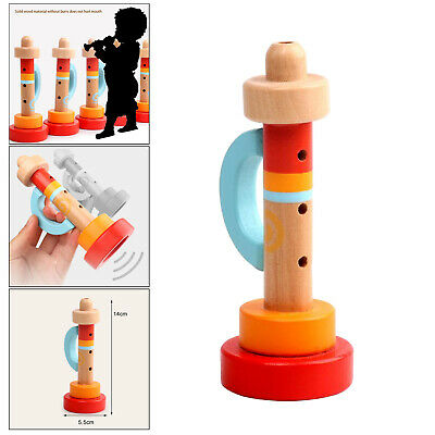 £4.90 • Buy Baby Wooden Trumpet Buglet Horn Wind Instrument Kids Early Educational Toys
