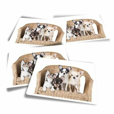 £3.49 • Buy 4x Rectangle Stickers - Chihuahua Puppies Dogs Puppy Dog  #44581
