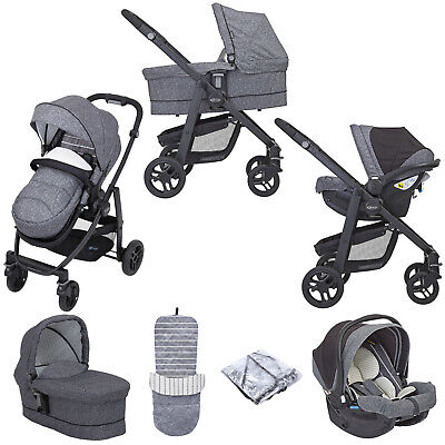 Graco Evo (SnugEssentials Car Seat I-Size) Travel System With Carrycot- Suits Me • 589£