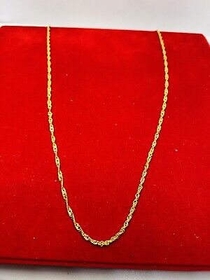 """£278.47 • Buy 22k Solid Gold  Chain Twisted Disco  18"""""""