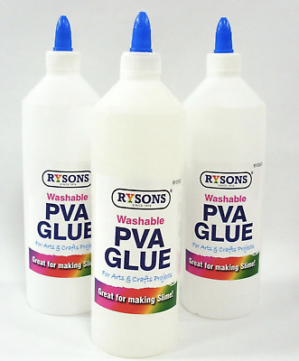 PVA Glue 500ML Washable Kids Safe Ideal For School Craft Office NON Toxic • 5.99£