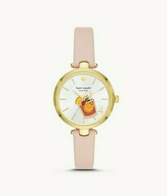 $ CDN87.71 • Buy New Kate Spade New York Holland Blush Leather Cocktail 🍸 Women's Watch KSW1629
