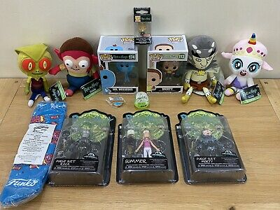 Funko Rick And Morty Bundle Of 13 Mix Action Figures, Pops,Plushes & Other Items • 44.95£