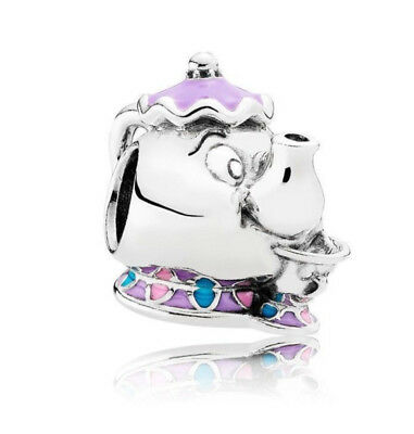 Pandora Silver Charm Disney Mrs Potts Chip Beauty And The Beast • 15.49£