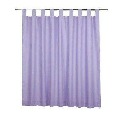 Tab Top Lined Lilac Curtains - 66x54 Inch Kids Room Brand New. • 14£