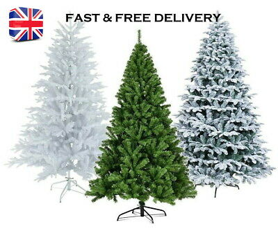Artificial Christmas Tree 7FT Green,White 210 Cm Xmas Decorations FAST & FREE  • 22.99£
