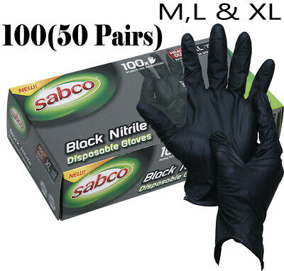 AU29.95 • Buy Industrial Black Disposable Nitrile Gloves Thick Rubber Medical Protection Au