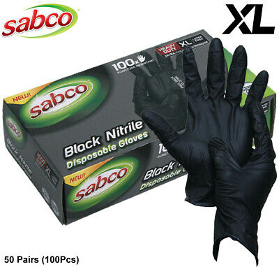 AU31.50 • Buy 100pcs Industrial Nitrile Disposable Gloves Powder & Latex Free Medical/ Food XL