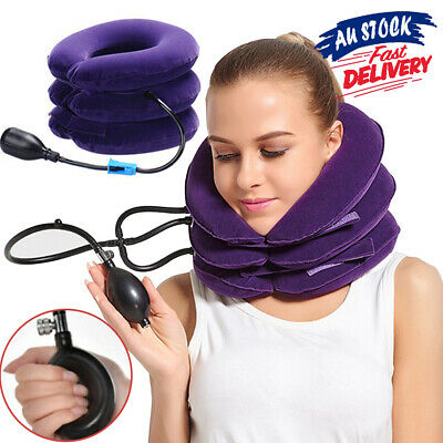 AU13.99 • Buy Air Inflatable Pillow For Easing Muscle Pain Cervical Neck Traction Device Brace