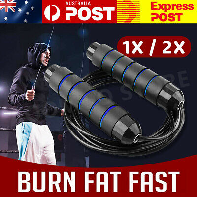 AU9.45 • Buy Heavy Weighted Skipping Jump Rope Sweat-proof Boxing Training Fitness Gym Speed