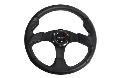 $35.99 • Buy 12.59  Black PVC Leather Stitch Racing Sport Steering Wheel For Nissan