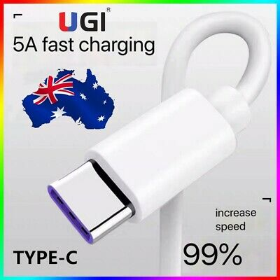 AU5.48 • Buy 5A Super Fast USB C Charge Cable For Type-C Samsung S9 S10 S20 HUAWEI Note 10 20