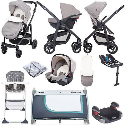 Graco Evo (SnugRide Car Seat) Everything You Need Travel System Bundle & Belted  • 510£