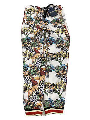 $29.99 • Buy Men's Victorious TRACK PANTS Urban WHITE TIGER JUNGLE KING DRAW STRING ST804 NWT