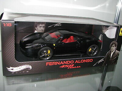 1/18 Hot Wheels ELITE Ferrari 458 ITALIA BLACK (read Description) • 349.18£