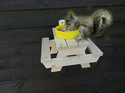 £9.95 • Buy Bird Feeding Squirrel Feeder Picnic Table Bench 🐿🐿🐦🐦🐿🐿 Gift