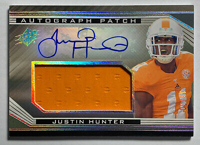 $22 • Buy 2013 Justin Hunter UD SPX AUTO PATCH RC 16/30 Autograph Rookie TENN VOLUNTEERS