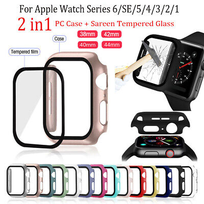 $ CDN5.08 • Buy Screen Protector Shockproof PC Hard Cover Case For Apple Watch Series 6 5 4 3 2