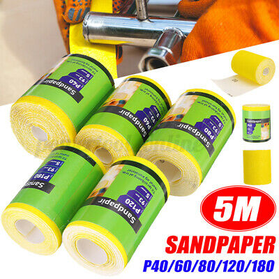 5M Sandpaper Roll Grind And Polish Function For Wood Paint Handicrafts Metals  • 8.13£