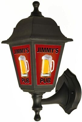 £47.49 • Buy Personalised PUB BAR Sign Outside Wall Light CHOOSE FONT AND COLOUR
