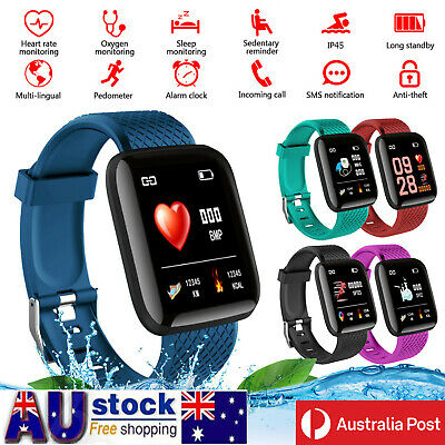 AU15.46 • Buy Smart Watch Band Sport Activity Fitness Tracker For Kids Fit Bit Android IOS AU