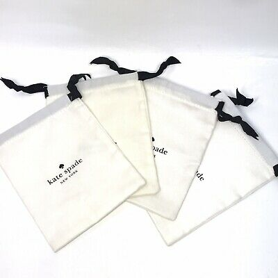 $ CDN12.69 • Buy Lot Of 4 KATE SPADE Medium White Jewelry Pouch For Bracelet/Necklace 6 X5