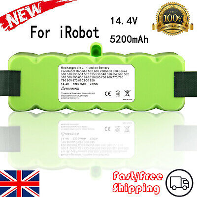 5.2Ah Li-ion Battery For IRobot Roomba 500 510 516 520 521 525 530 600 605 610 • 19.59£