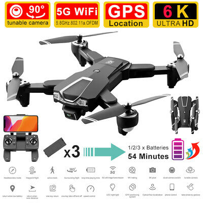 AU131.99 • Buy 5G 4K 6K Foldable GPS WiFi Drone X Pro With HD Camera FPV Selfie RC Quadcopter