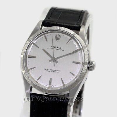 $ CDN3751.51 • Buy Rolex Vintage Oyster Perpetual Ref 1003 Silver Dial Stainless Steel Circa 1966
