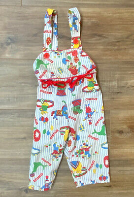 AU28.08 • Buy VINTAGE 70s BABY SEARS OVERALLS CIRCUS CLOWNS JUMPER SIZE 21 To 26 Lbs