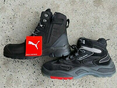 AU189.99 • Buy PUMA Conquest ZIP Sider BLACK 630737  WORK BOOT Top Of The Range PUMA +FREEshoes
