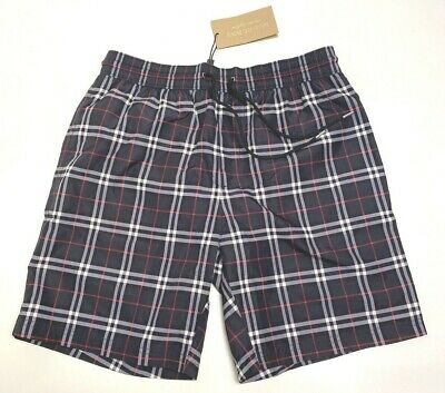 $199 • Buy BURBERRY Men's Navy Britcheck Guildes Swim Shorts, Small Or XL